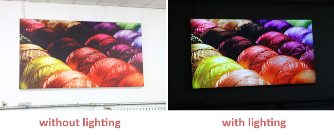 Tension Fabric for Light Box (Wide Format) application 1