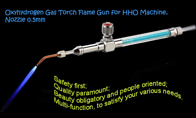 Oxyhydrogen Gas Torch Flame Gun for HHO Machine, Nozzle 0.5mm