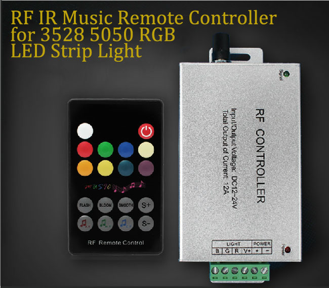 RF IR Music Remote Controller for 3528 5050 RGB LED Strip Light 1