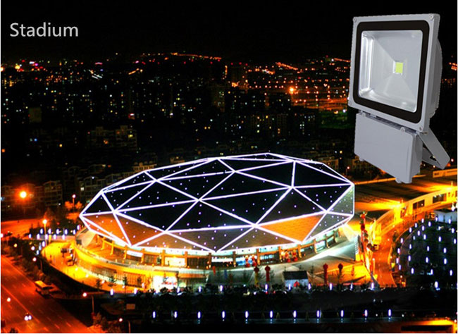 10W LED Flood Light Outdoor Landscape Lamp application 1