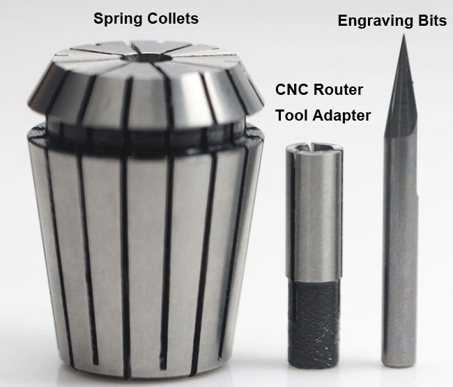 Engraving Bit CNC Router Tool Adapter Collet usage