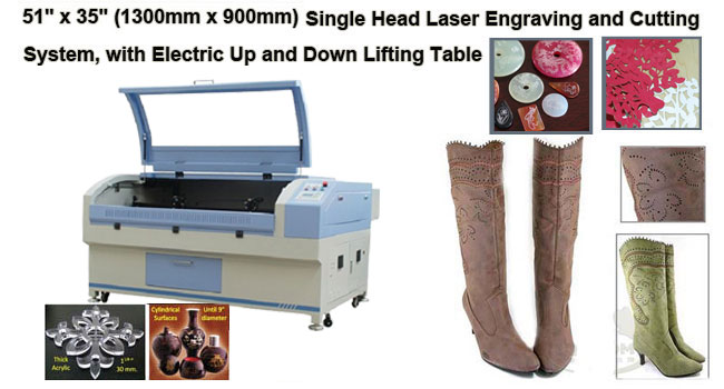Single Head Laser Engraving and Cutting System, Stepper Motor