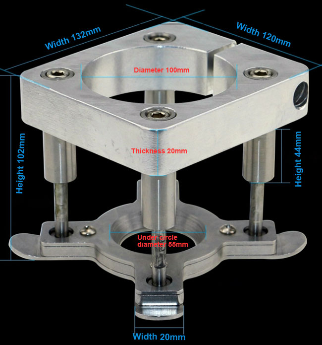 100mm Automatic Fixture Clamp Plate Device details