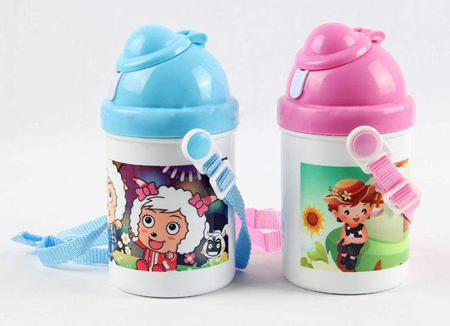 1pc 400ml Blank Water Bottle For Kids Children For