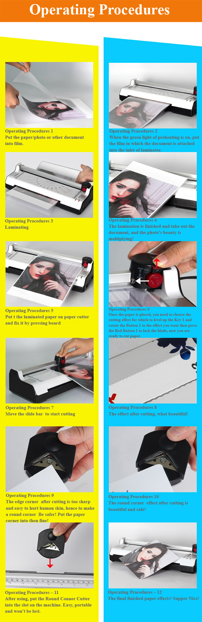 A3 Multi-functional 2 in 1 Photo Thermal and Cold Pouch Laminator with Paper Trimmer usage