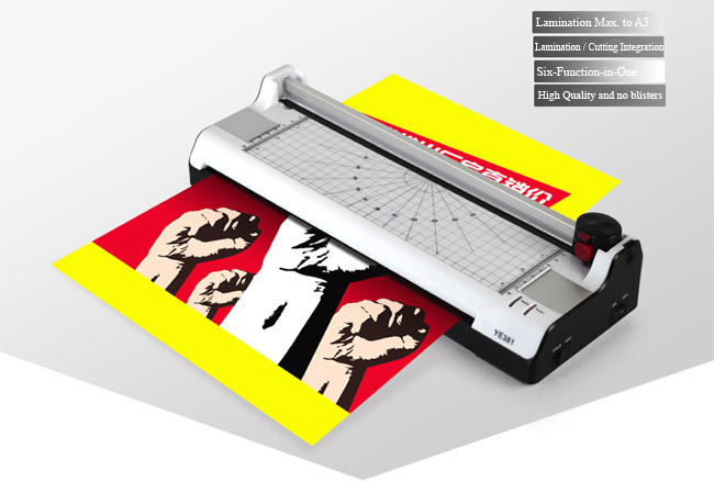 A3 Multi-functional 2 in 1 Photo Thermal and Cold Pouch Laminator with Paper Trimmer