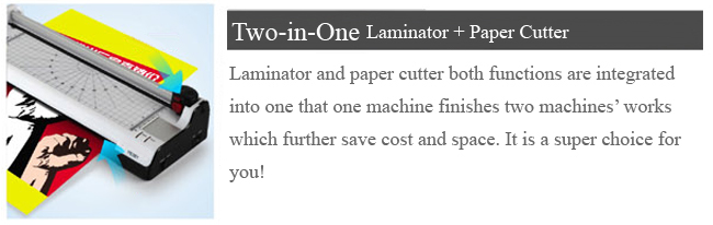 A3 Multi-functional 2 in 1 Photo Thermal and Cold Pouch Laminator with Paper Trimmer details 2