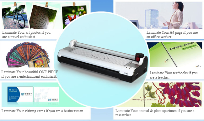A3 Multi-functional 2 in 1 Photo Thermal and Cold Pouch Laminator with Paper Trimmer application