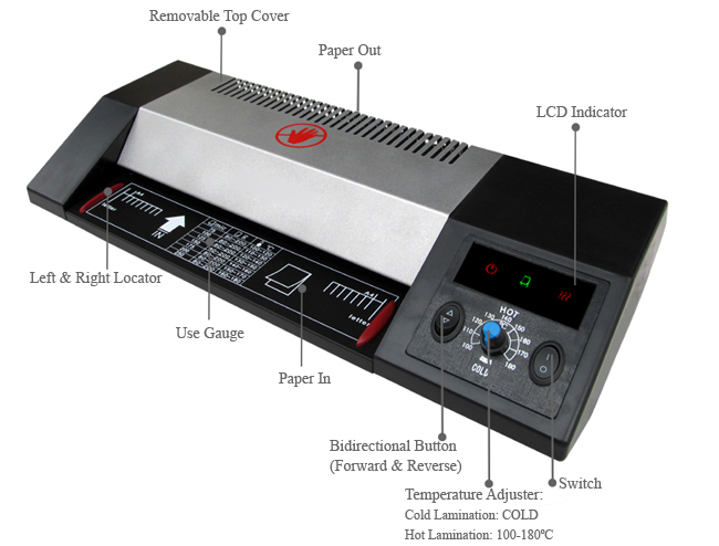 A4 Office Photo Document Iron-Covered Thermal and Cold Pouch Laminator details 1