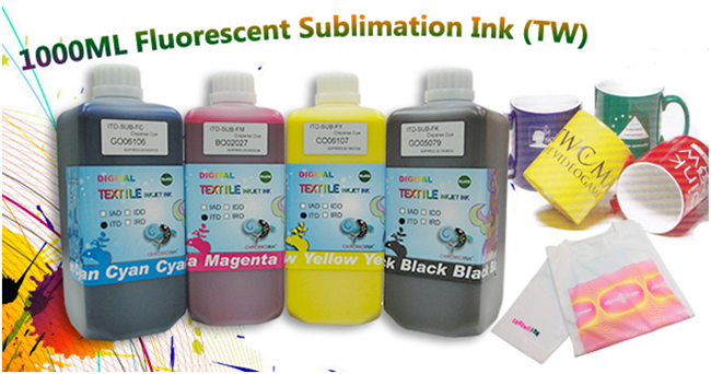 1 Liter Fluorescent Dye Sublimation Ink