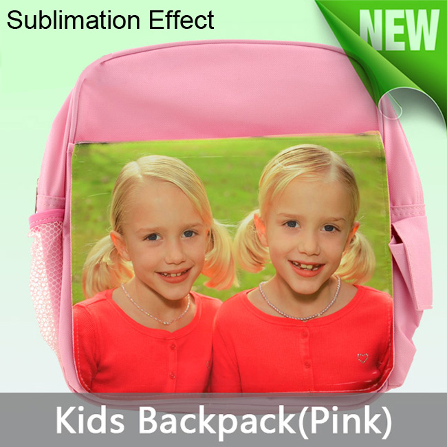 Pink Blank Sublimation Backpack with Heat Transfer Flap for Kids Advertising