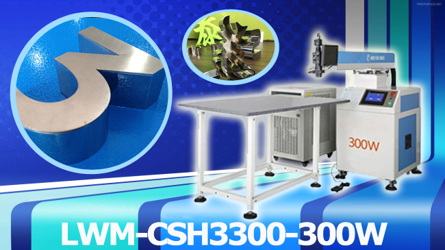 300W YAG Laser Welding Machine for Metal Channel Letter Making