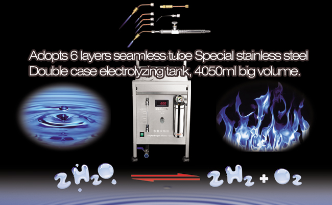 70A 350W Stainless Steel Made Durable Oxygen Hydrogen Flame Generator Acrylic Polishing Machine