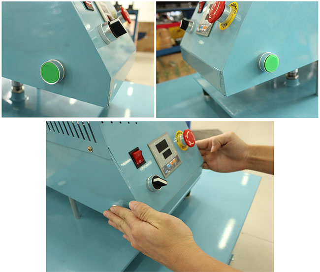 Pneumatic Flat Heat Press Machine with Single Working Table Draw Motion Details
