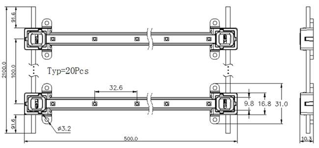 led lattice backlight smd 2835 waterproof led bar for