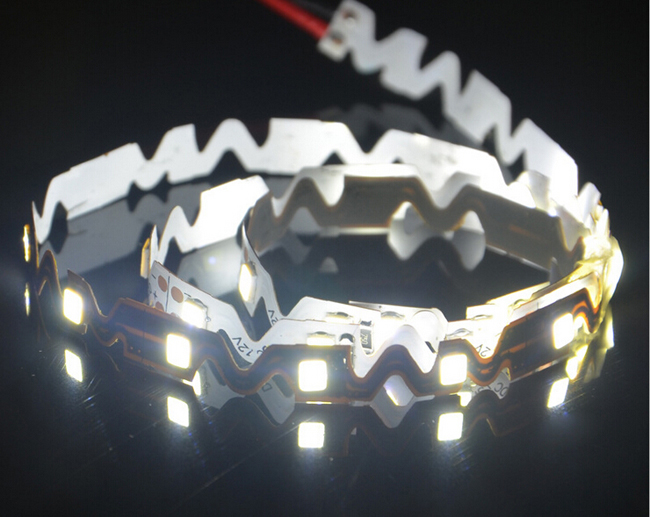 16.4FT 2835 Flexible LED Strip Bendable S Type 5M SMD 300 White Light NP 12V for Resin Letter