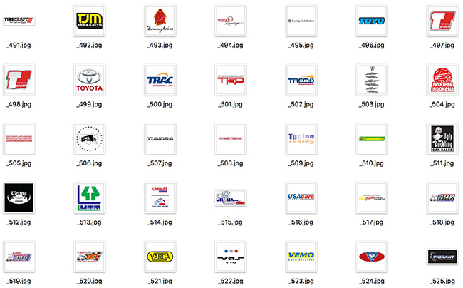 detail of Large Set of International Famous Trademarks of Automobile Auto Brand Company Vector Logos 567 Include (Free Download Illustrations)