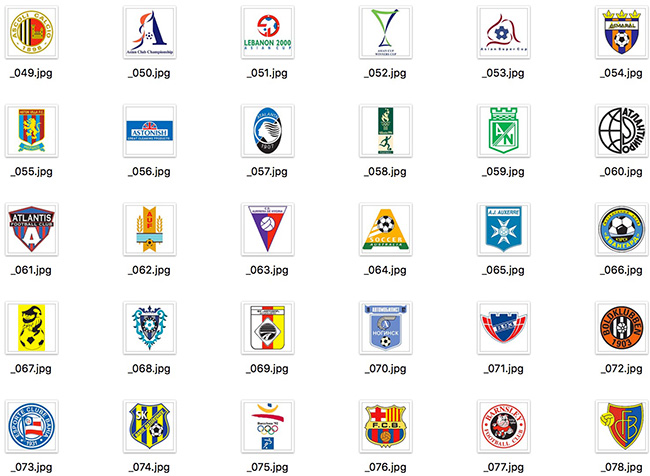 detail of Large Set of International Famous Global Football Team and Football Professional League Vector Logos 801 Include (Free Download Illustrations)