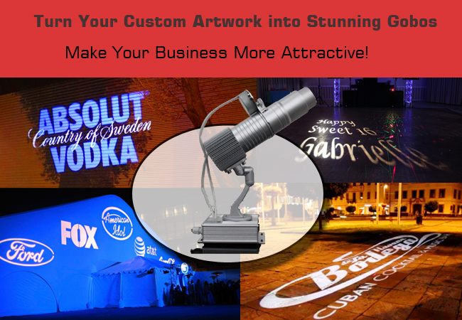 20w desktop mountable led gobo projector advertising logo light with gobos film 6927053025023 ebay. Black Bedroom Furniture Sets. Home Design Ideas