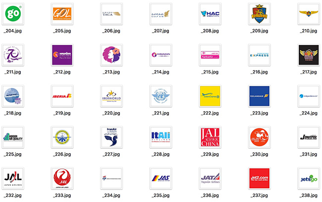 detail of Large Set of International Famous Airline Company Vector Logos 473 Include (Free Download Illustrations)
