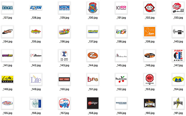detail of Large Set of International Famous FM Radio Company Vector Logos 400 Include (Free Download Illustrations)