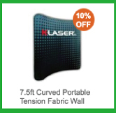 7.5ft Curved Portable Tension Fabric Wall
