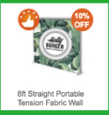 8ft Straight Portable Tension Fabric Wall