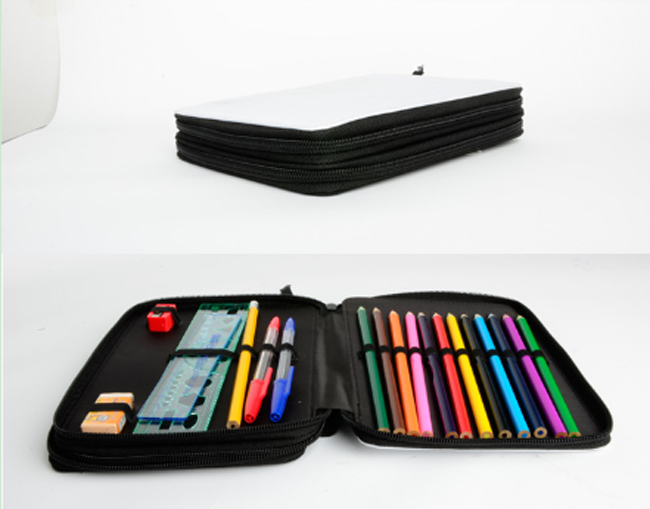 Kids Blank Dye Sublimation Stationery Bag Printable Pencil Case