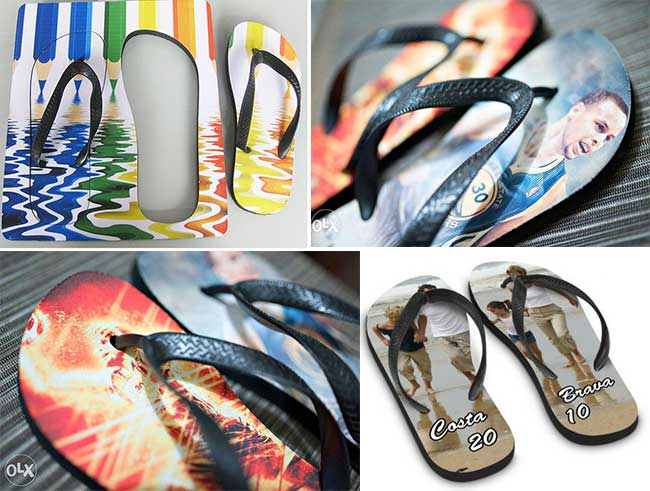 Sublimation Beach Sandal Slipper with Black Belt for Adult