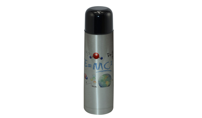 Blank Silver Thermos Flask Travel Mug for Sublimation Printing