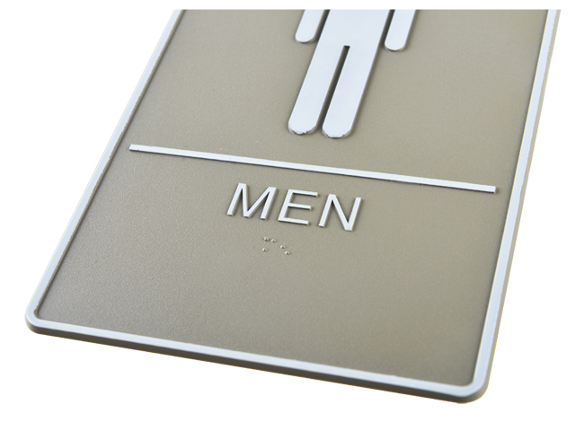 Male, Toilet, Restroom Signs With Braille