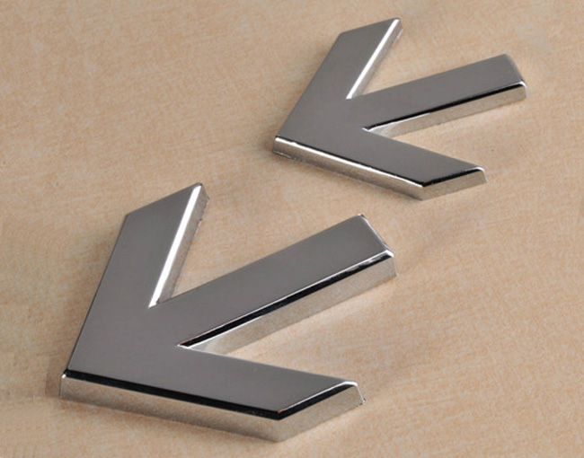 Plating Arrow, Directional Signs, 50x40x4mm