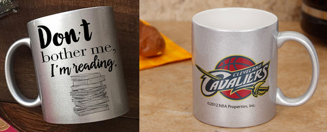 OZ Metallic Silver Sublimation Mug with Orca Coating for Sublimation Printing