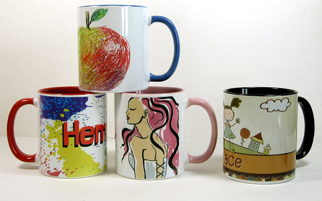OZ ORCA Coating Two Tone Sublimation Mug with Inner and Handle Colorful