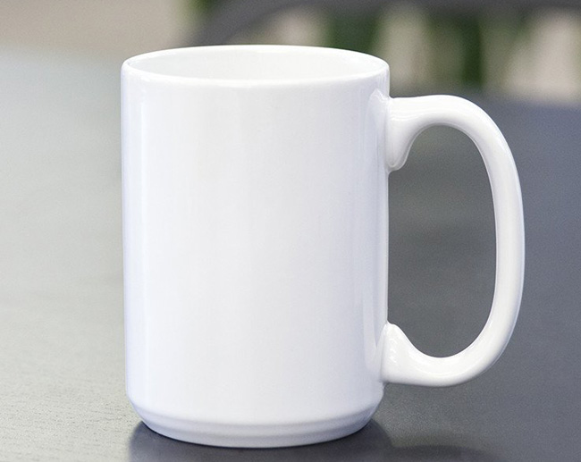 15 OZ Sublimation Blank White Mugs
