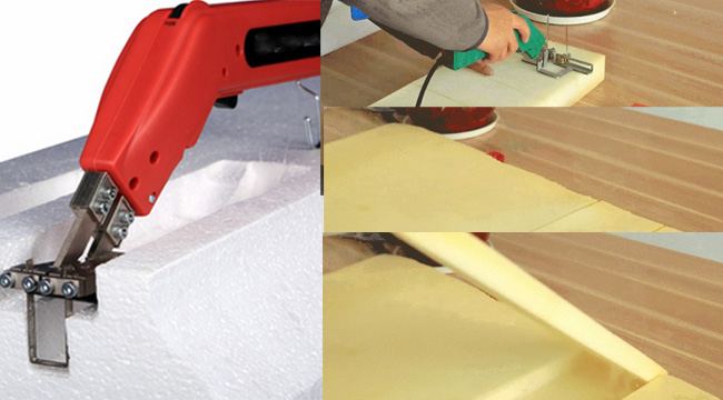 150W Heavy Duty Electric Hand Held Hot Knife for Foam Slotting (with Big Slotting Suit)