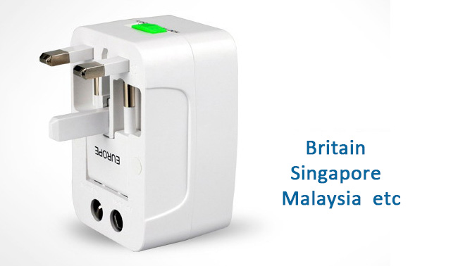 Multi Function Global Conversion Power Plug  Converter Adapter UK / US / AU / EU