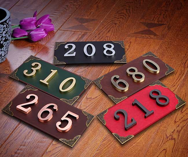 Mini Metal Numbers with Self-stick for Address Plaque-Height 4.8cm High Quality
