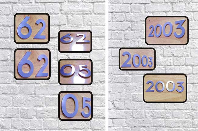 Hotel House Door Address Stainless Steel 0-9 Numbers (Item Height: 6cm)