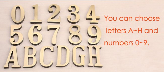 Details about House Home Apartment Door Number Letter Address Plaque Metal  Copper Custom
