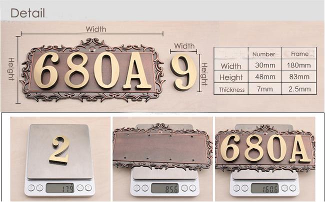 custom house office apartment number letter sign address plaque metal copper ebay. Black Bedroom Furniture Sets. Home Design Ideas