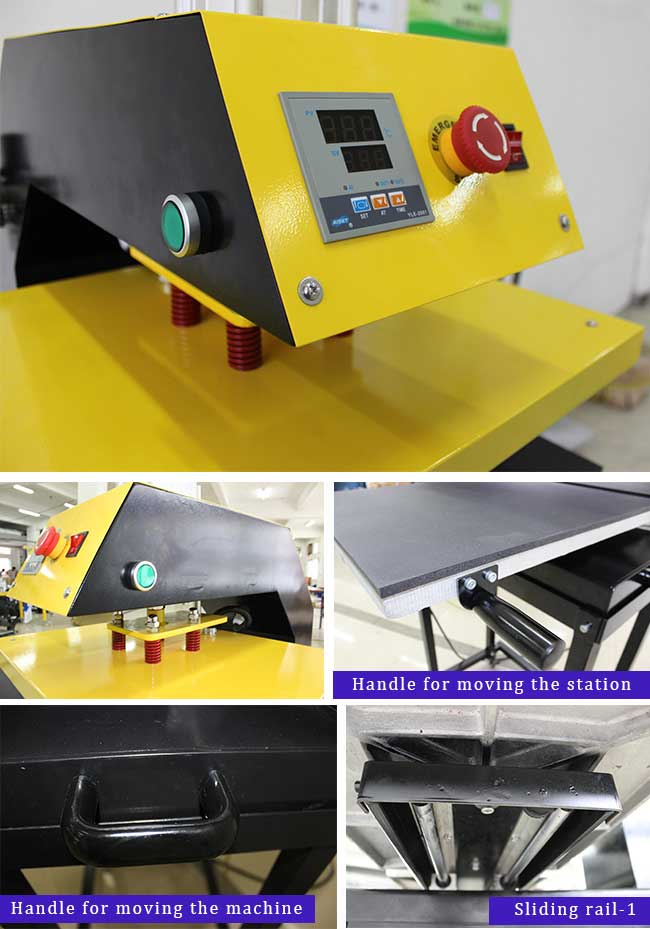 Pneumatic Double Working-Table T-shirt Heat Press Machine with Removable Tables and Stands
