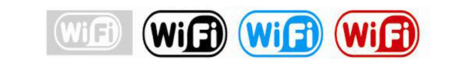 Free Wifi Window Decal Sticker Business Sign (13cm x 6cm)
