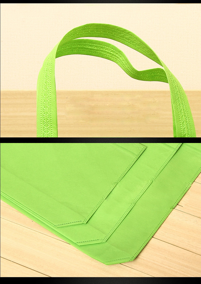 11.8 x 15.7 Reusable Tote Bag, 1 Color Custom Double Sided Imprint - 6 Color
