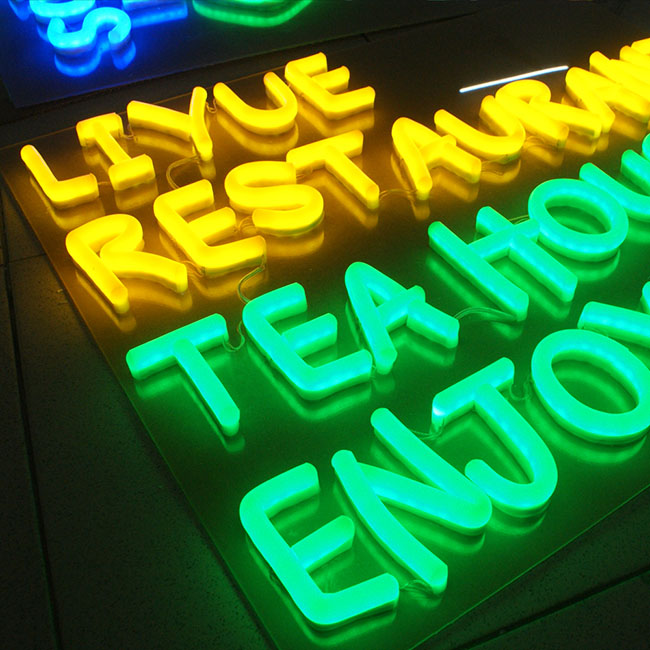 SMD 2835 100CM Cut Flexible LED Neon Lights 220VAC Waterproof Outdoor Advertising Signs, Decorative Soft Light(Size 10x20mm)