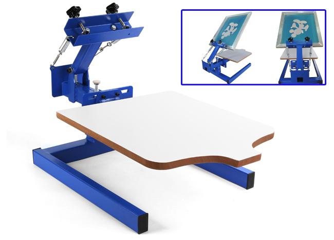 Single Color Silk Screen Printing Machine 1 1 Press Diy T