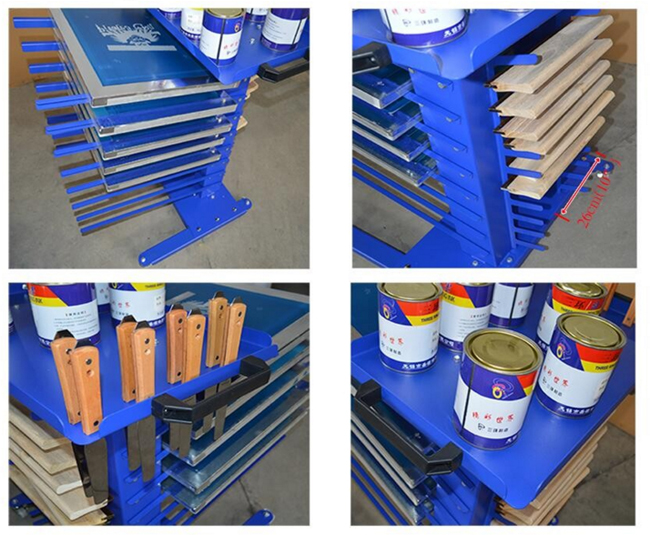 Movable Screen Printing Material Rack Silk Screen Printing Equipment
