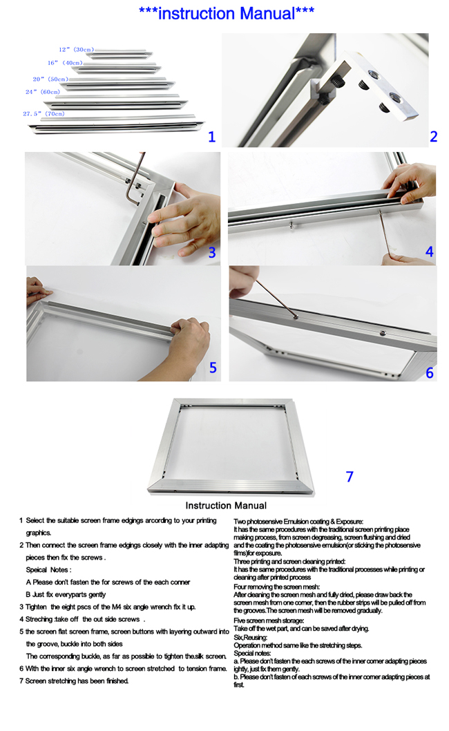 New Self-tensioning Frame for Screen Printing Kit A Multi-Functional DIY