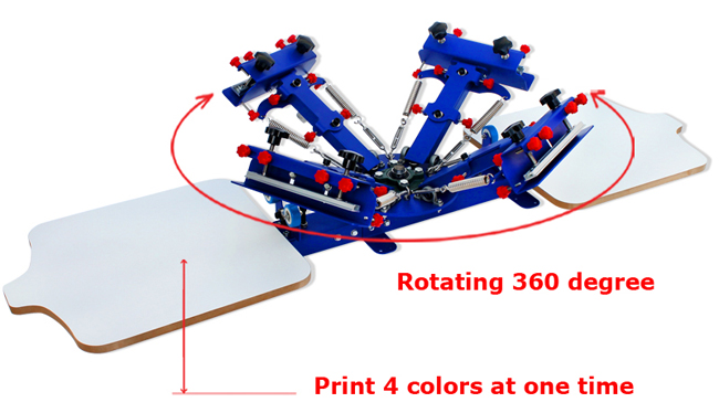 4 Color 2 Station Silk Screen Printing Press Screen Printing Full Kit Equipment