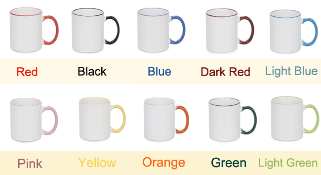 Sublimation Mug With Colored Rim